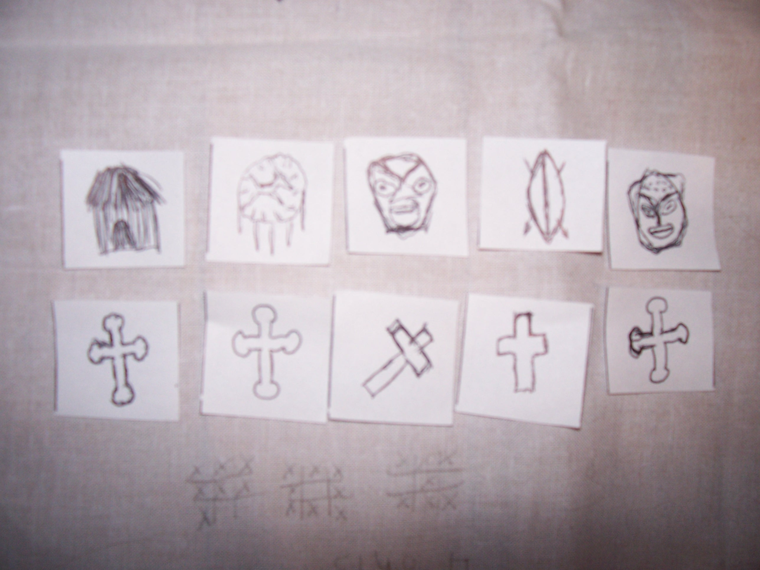picture of colonial tic tac toe board two